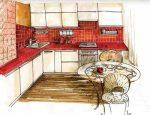 Макет кухня – угловая кухня, чертеж кухни своими руками, интерьер в картинках, как нарисовать дизайн проекта,чертежи, макеты, видео