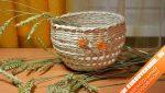 Материалы из газет – Новые работы в технике «Плетение», с использованием материала «Трубочки бумажные»