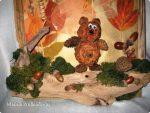 Медведь из листьев