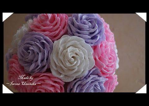 Мк цветов из гофрированной бумаги