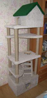 Многоэтажный домик для кошки своими руками