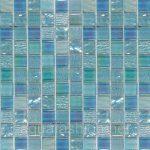 Мозаика голубая в ванной фото
