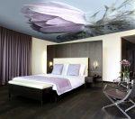 Натяжные потолки фото для спальни фотопечать