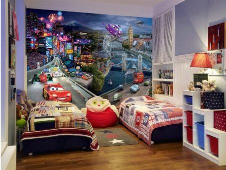 Обои бумажные для детской комнаты – для стен в комнату для детей, Jack`n Rose Junior в интерьере, в полоску и с динозаврами, наклейки для рисования