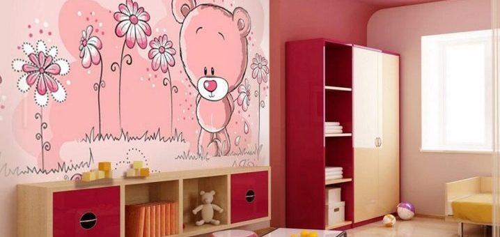 Обои с мишками для детской комнаты