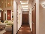 Обои в длинный узкий коридор – реальные идеи и решения 2018, как визуально расширить длинное помещение в квартире, варианты-проекты интерьера коридора для «хрущевки»