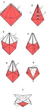 Оригами из бумаги объемные схемы
