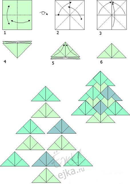 Оригами из бумаги для начинающих и детей: схемы птицы, кораблика.