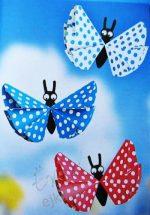 Оригами поделки из цветной бумаги – Детское оригами — бабочка, поделка из цветной бумаги / Оригами для детей и начинающих, как сделать поделки из бумаги, схемы сборки, модульное оригами / Ёжка