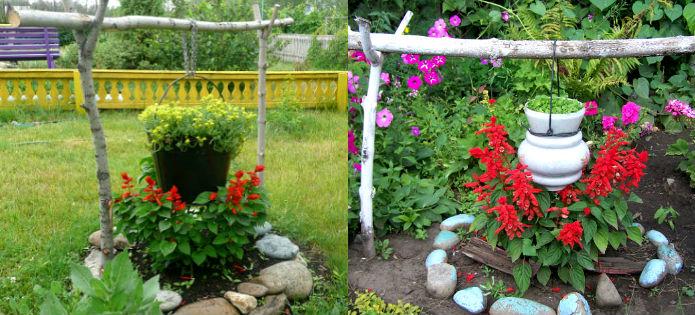 Дачные поделки своими руками для украшения сада фото 516