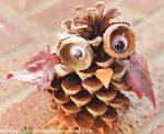 Осенние поделки из шишек своими руками для детского сада