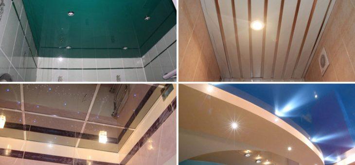 Отделка потолка в ванной комнате – Из чего лучше сделать потолок в ванной комнате, виды потолков, фото в интерьере