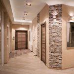 Отделка холла декоративным камнем и обоями в прихожей дизайн – внутренняя отделка искусственным гибким и диким камнем в коридоре, варианты дизайна стен