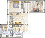 П 44 квартира – Перепланировка 3-комнатной квартиры — 5 дизайн-проектов трехкомнатной квартиры в доме серии П44