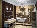 Панно дизайн ванной