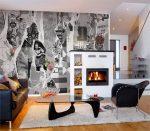 Панно из обоев в гостиной – итальянские виниловые полотна в интерьере гостиной, как сделать правильный выбор, модели в виде цветка