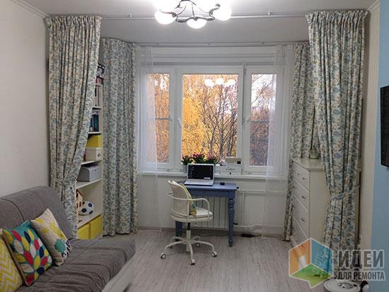Зонирование комнаты шторами (49 фото): разделение на зоны с помощью штор, японские перегородки 965