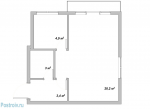 Планировка 1 комнатной квартиры 30 кв м