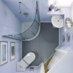 Планировка ванны маленькой