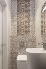 Плитка мозаика в туалете фото дизайн – дизайн и отделка маленького санузла, выложенные из плитки узоры на полу и стенах, советы для ремонта