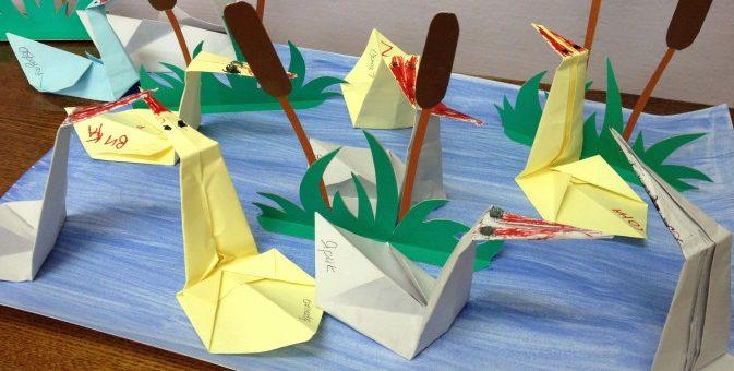 По оригами