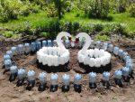 Поделки для дачи из пластиковых бутылок своими руками фото