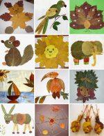 Поделки из листьев рыбка – Поделки из листьев фото на картоне – Поделки из листьев деревьев своими руками: красивые мастер-классы на тему осень с фото и видео