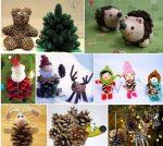 Поделки своими руками на новый год из шишек – как подготовить материал, сделать птичку, подсвечник, медвежонка, простые варианты для изготовления с детьми