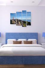 Постер в спальню над кроватью – какие можно и нельзя вешать над кроватью, модульные модели в интерьере, с пионами и с другими цветами, какими должны быть