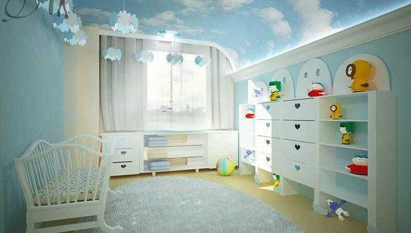Потолки в детской – Как оформить и украсить потолки в детской и сделать дизайн потолка в детской (60 фото) своими руками: фото и видео инструкция