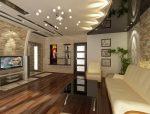 Потолок дизайн в гостиной – красивые примеры-2018 оформления зала площадью18 кв. м, современные навесные варианты, какой потолок лучше сделать в квартире