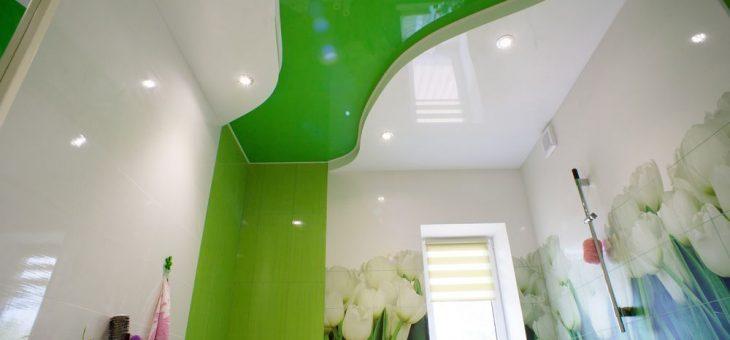 Потолок двухуровневый в ванной – Как смотрится двухуровневый натяжной потолок в ванной. Двухуровневый потолок в ванной