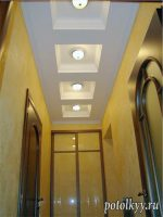 Потолок коридор фото гипсокартон – Потолок в коридоре из гипсокартона фото интерьера — Все о гипсокартоне
