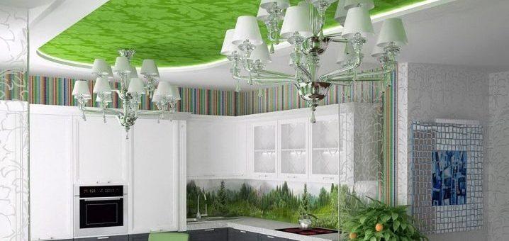 Потолок в кухне дизайн натяжной потолок – Натяжной потолок на кухне — отзывы и недостатки (75 фото): есть ли проблемы с сатиновым потолком