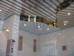 Потолок в ванной комнате реечный фото – Реечный потолок в ванной — установка своими руками с фото от «Про Ванну.Ком»