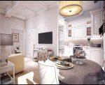 Проект однокомнатной квартиры со спальней – Дизайн однокомнатной квартиры 47 кв. м в стиле новая классика. Как с помощью перегородки зонировать квартиру.