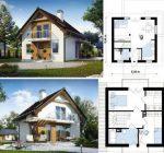 Проекты домов внутри и снаружи фото – мансардные дачные домики 6х6 м, красивые конструкции внутри и снаружи, планировка коттеджа с верандой и эркером