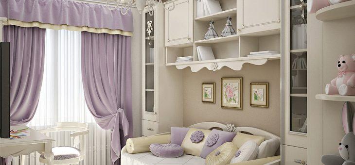 Простой дизайн детской комнаты для девочки