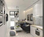 Прямоугольная гостиная с кухней – Дизайн кухни-гостиной площадью 19-20 кв. м (73 фото): планировка совмещенных помещений