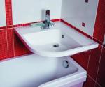 Раковины для ванной над ванной