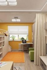 Разделение зон в однокомнатной квартире фото – использование перегородки из гипсокартона, особенности планировки для семьи с ребенком, эффектные примеры интерьера