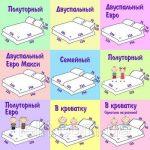 Размеры полутороспального белья – виды стандартных комплектов, односпального пододеяльника, для евро кровати, двуспальный queen