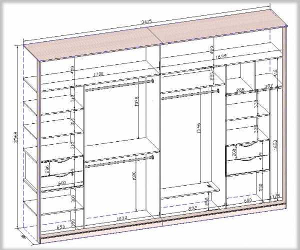 размеры шкафов купе схематично шкаф купе своими руками чертежи