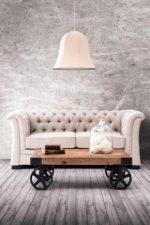 Размеры журнальных столиков – маленький овальный стол на колесах, красивые белые модели с ящиками, высокие варианты в стиле «лофт»