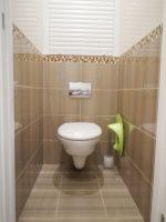 Ремонт плиткой в туалете фото – Ремонт туалетрой комнаты 48 ФОТО! Дизайн туалетрой комнаты маленького размера