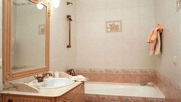 Ремонт в ванной в стиле прованс