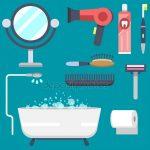 Рисунок ванная – Современной ванной полотенце сушилка значок, плоский стиль– Векторная картинка