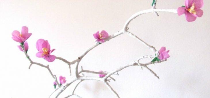 Сакура своими руками из гофрированной бумаги – Ветка сакуры — цветы из гофрированной бумаги своими руками :: Это интересно!