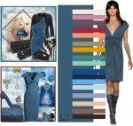 Серый и синий – Сочетание цветов в одежде (таблица): фото красивых комбинаций