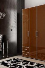 Шкаф в спальню с распашными дверями варианты фото угловой – трехстворчатый вариант в спальню с трехстворчатыми дверями, двухстворчатые модели с полками и штангой, с зеркалом и антресолью